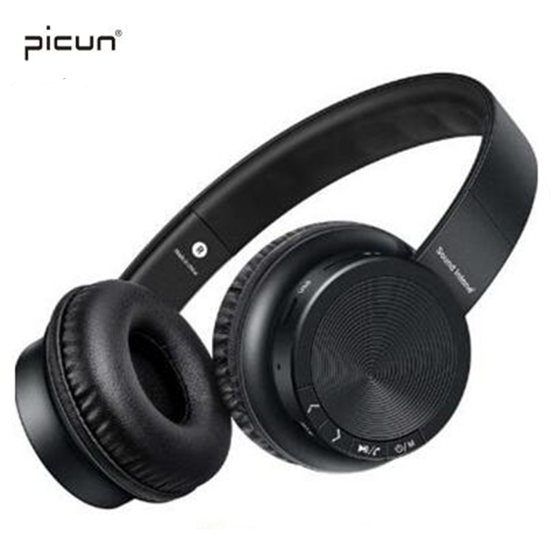 Picun P30 Wireless Bluetooth Stereo Headphones With Mic Support TF Card Over-ear Headset For iPhone Samsung Huawei Xiaomi PC new products picun c6 stereo headphones earphone with mic best bass foldable headset for iphone 6s pc mp4 xiaomi huawei meizu
