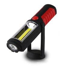 Hot Portátil Recarregável de 360 graus COB LEVOU Luz Trabalho Magnético Mão Lanterna Tocha W/Gancho