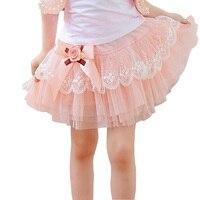 Nueva Llegada Del Verano Muchachas de Los Niños tutú Faldas Precioso Arco Princesa Torta Faldas Moda de Encaje Balón vestido de Falda DQ579