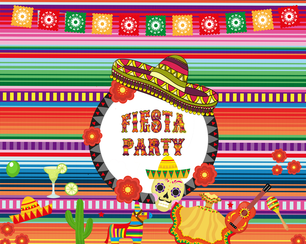 Fiesta Party Photography Backdrop Great As Mexican Dress
