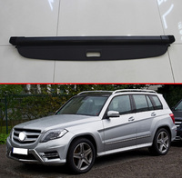 For Mercedes Benz GLK CLASS X204 GLK300 GLK260 2008 2015 Aluminum alloy & cloth Rear Cargo screen Cover Trunk Screen