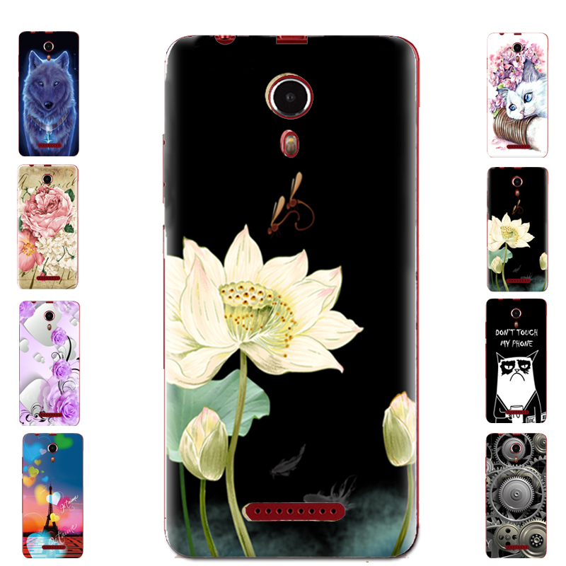 For BQ 5522 Floral Sleepy Darling Baby Cat Animal Case For BQ-5522 NEXT Back Cover Bag TPU Cases