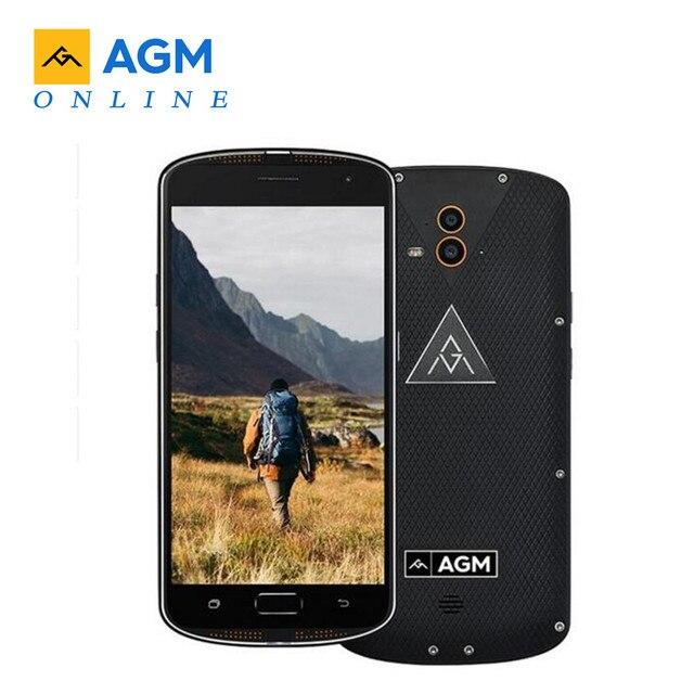 "AGM X1 ЕС IP68 Водонепроницаемый NFC Смартфон 5,5 ""AMOLED 4G Qualcomm Snapdragon 617 4 GB + 64 GB 13MP 5400 mAh отпечатков пальцев мобильный телефон"