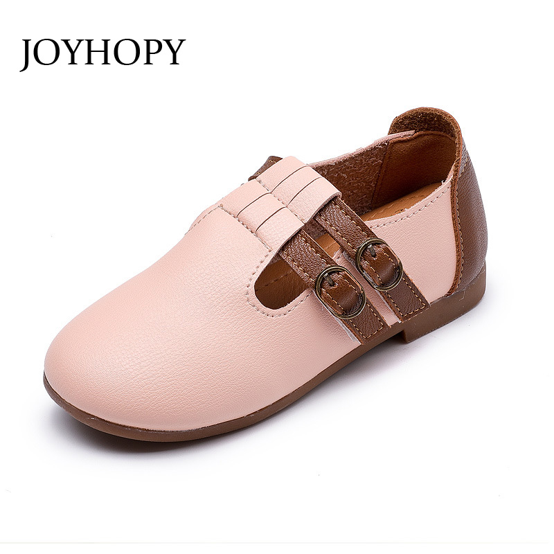 JOYHOPY children shoes kids quality shoes PU leather for Baby boys girls Footwear Size EUR 21-30
