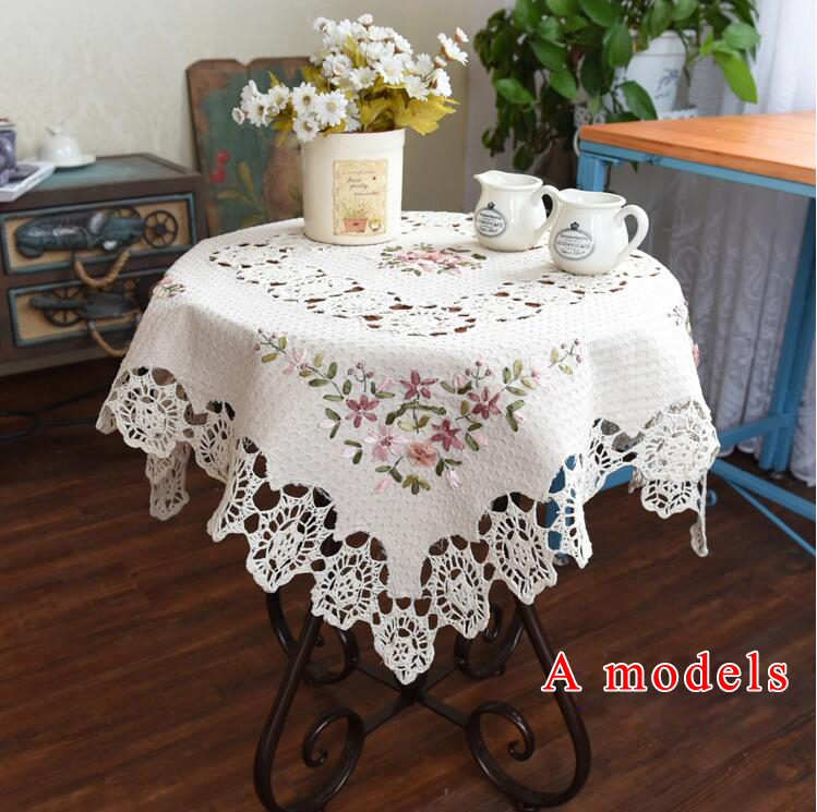 NEW Christmas Hand Cotton Embroidery Tablecloths Cotton Square