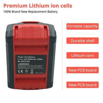2 Pack 18V 6000mAh de lítio para a bateria recarregável da Ferramenta Elétrica Bosch BAT609 BAT610 BAT618 BAT619 BAT622G BAT1 Batteria XNUMX