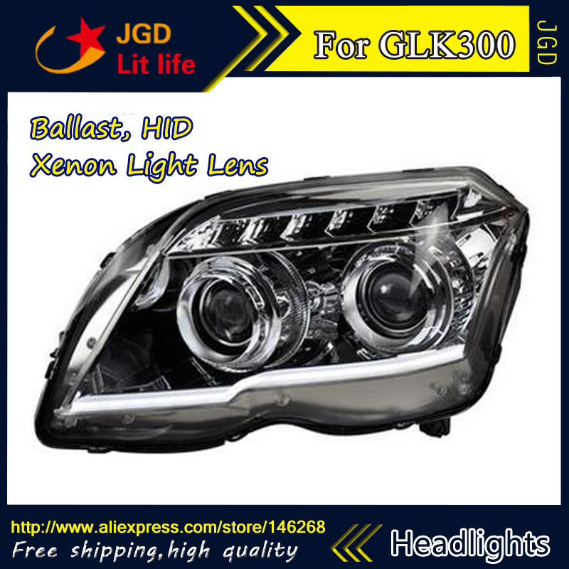 Free shipping ! Car styling LED HID Rio LED headlights Head Lamp case for Benz GLK300 2011 2012 2013 Bi-Xenon Lens low beam auto clud style led head lamp for benz w163 ml320 ml280 ml350 ml430 led headlights signal led drl hid bi xenon lens low beam