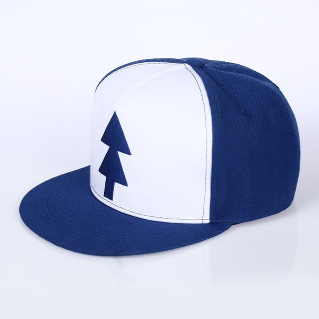 VORON Gravity Falls Baseball Cap BLUE PINE TREE Hat Cartoon Hip hop  Snapback Cap New Curved Bill Dipper Adult Men Dad Hat 7d8421d6352