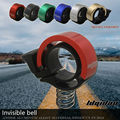 6 Colors Bicycle Invisible Bell CNC Aluminum Alloy Loud Sound Bike Handlebar Ring Q Bells Environmental MTB Cycling Alarm Horn