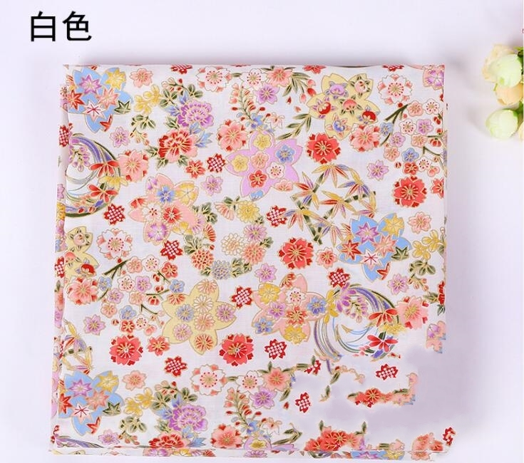 4style Cotton kimono gilded cherry blossom fabric Dress cheongsam printing super hollandais african sequin fabric video A325 in Fabric from Home Garden