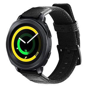 Image 5 - Correa de nailon y cuero para Samsung Gear Sport/Galaxy Watch 42mm/para Garmin Vivoactive 3/Ticwatch 2/E