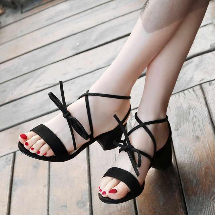 Сандалии на высоком каблуке; женская обувь; женские летние замшевые сандалии с перекрестными ремешками; римское кольцо; Туфли на ремешках; большие размеры 11, 12