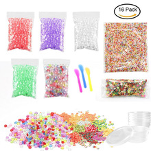 DIY Fishbowl Beads Glitter para Slime, 2000PCS Colorful Foam Balls para Slime 1000PCS Fruit Face Decorations 5 Pack Fishbowl beads
