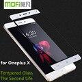 Cubierta mofi oneplus x vidrio templado lleno uno más x protector de pantalla ultra delgada Uno E1001 reemplazo película de protección 4G 128 GB