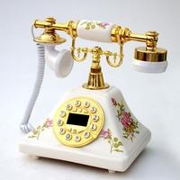 European Fashion Vintage fixed Telephone Antique Landline Office Phone Home telephone fixe sans fil telefone antigo chinaware
