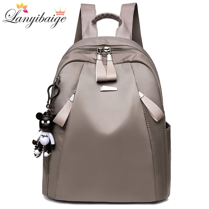 2019 New Waterproof Women Bag Oxford Women Backpacks Zipper School Bags For Teenage Girls Small Backpack Woman Shoulder Bags