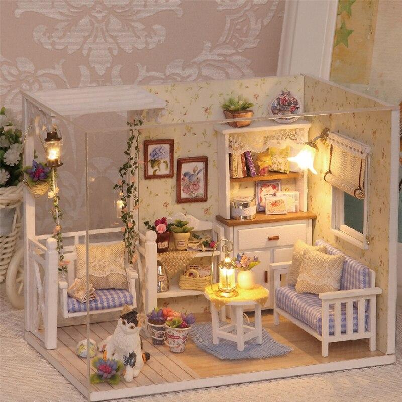 Diy Miniature Wooden Doll House Furniture Kits Toys Handmade Craft ...