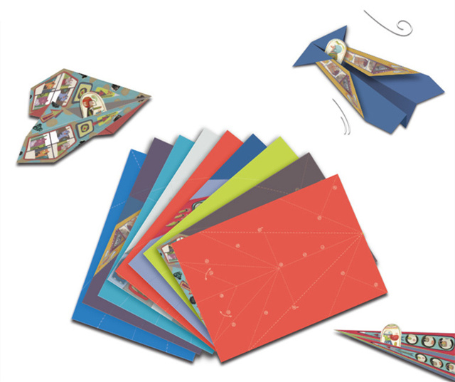 new classic childhood origami toy fold n fly paper airplanes kit 20