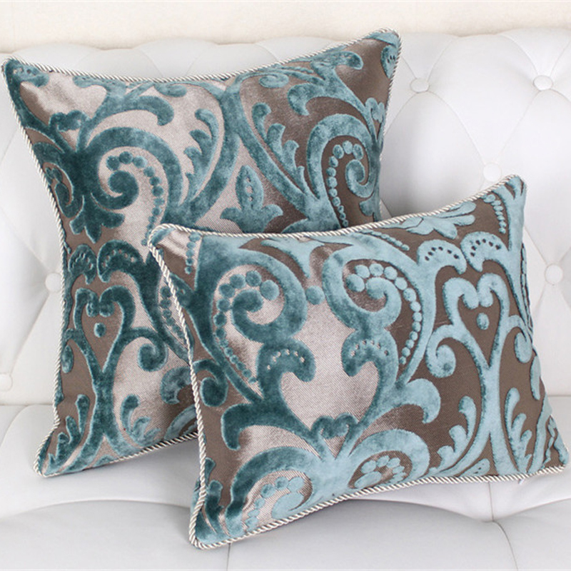 "Elegant Sofa Pillows: Modren 45"" 60"" Flocking Pillow Luxury/Plaid/Elegant/Flower"