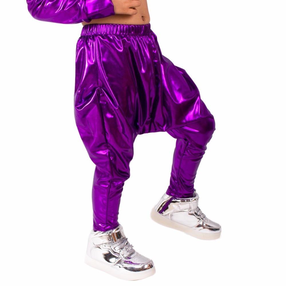 Heroprose 2018 New Fashion osobowość Fioletowe duże krocza spodnie - Ubrania dziecięce - Zdjęcie 2