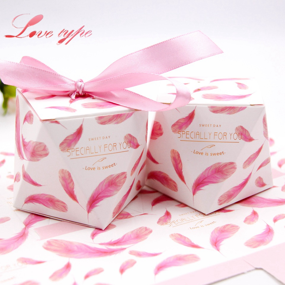 10PCS/Lot Thank you Gift Box Gold Stamping Candy Pattern Kraft Paper ...