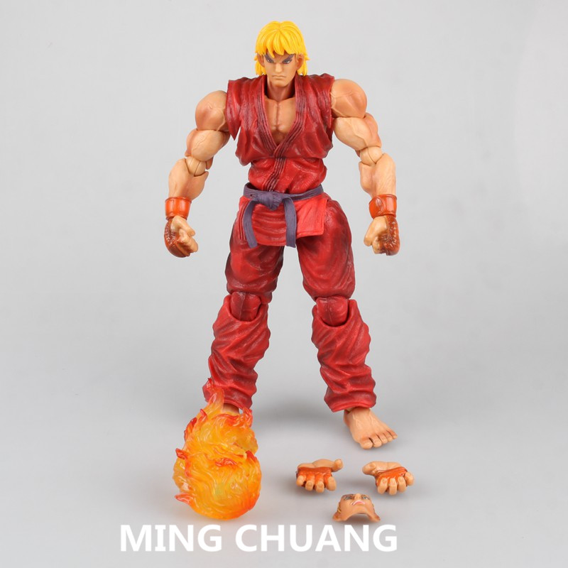 Street Fighter IV Play Arts Ken Masters Ryu Gouki PVC Action Figure Collectible Model Toy with retail box 23 cm Q45 play arts kai street fighter iv 4 gouki akuma pvc action figure collectible model toy 24 cm kt3503