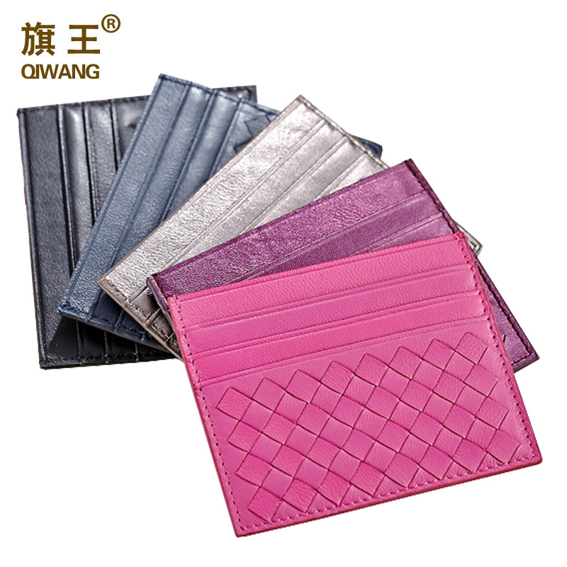 QIWANG Women Genuine Leather Credit Card Holder Women ID Card Books ...