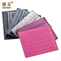 Woven Mini Plaid Credit Card Holder Sheepskin Genuine Leather Business Card Bag ID Holders Ladies 5colors Nice Gifts Porte Carte