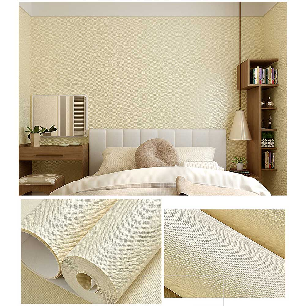Solid Color Non-Woven Wallpaper Bedroom Living Room Wallpaper For Hotel KTV 53CM×9.5M(China)