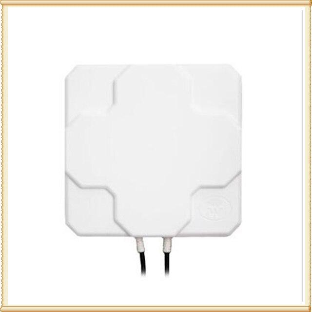 2 * 22dBi กลางแจ้ง 4G LTE เสาอากาศ MIMO, LTE dual polarization เสาอากาศ SMA - ชาย connector (สีขาวหรือสีดำ) 20 ซม.