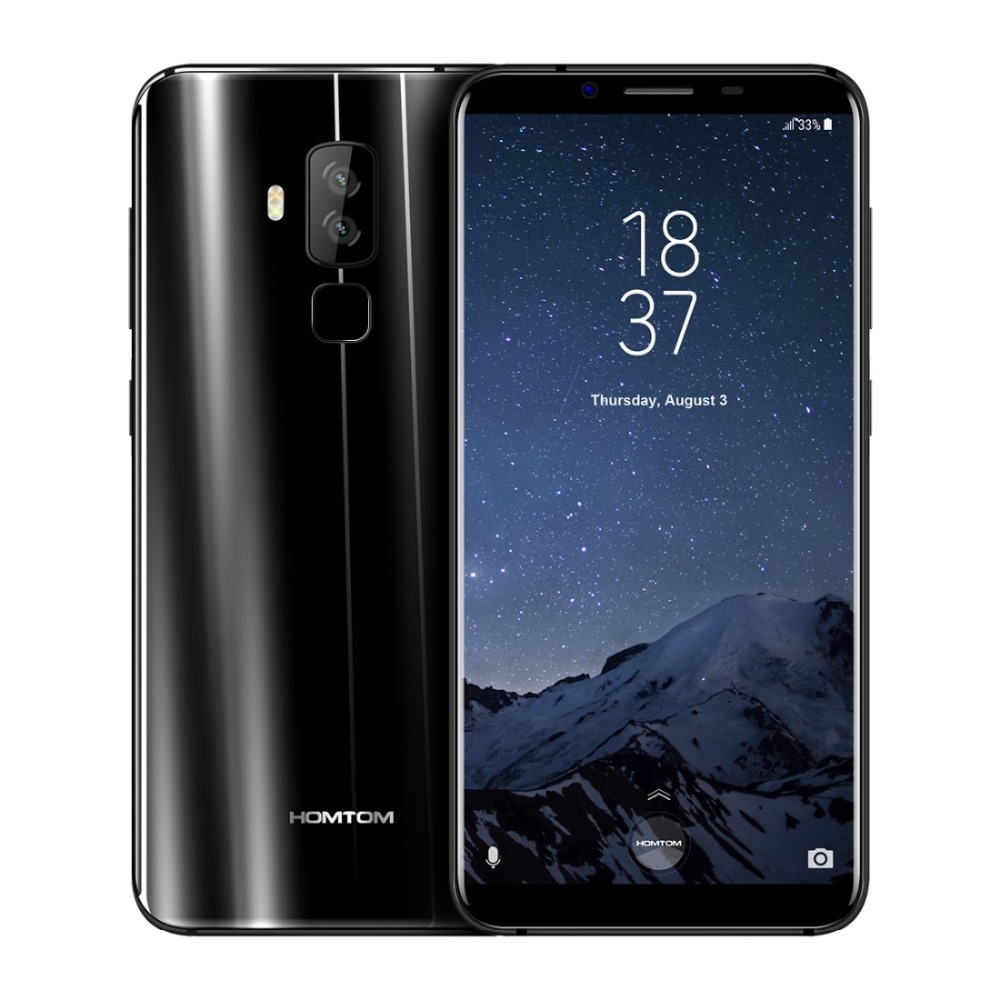 "HOMTOM S8 LTE 5.7"" HD+ 18:9 Aspect Ratio Mobile Phone MTK6750T Octa Core 4G RAM 64G ROM 3400mAh 16MP+5MP Fingerprint Smartphone"