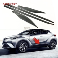 4PCS ABS Chrome Door Body Side Trim Cover Molding FOR Toyota C HR CHR 2016 2017 2018 Car Accessories Styling