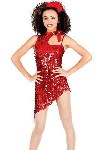 Aliexpress.com  Buy Cheerful teen girls red sequin jazz dance costume dress from Reliable ...