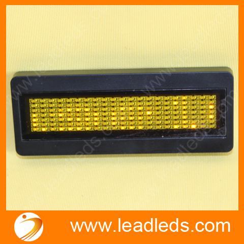 Scrolling Falshing message led car badge lights with yellow color