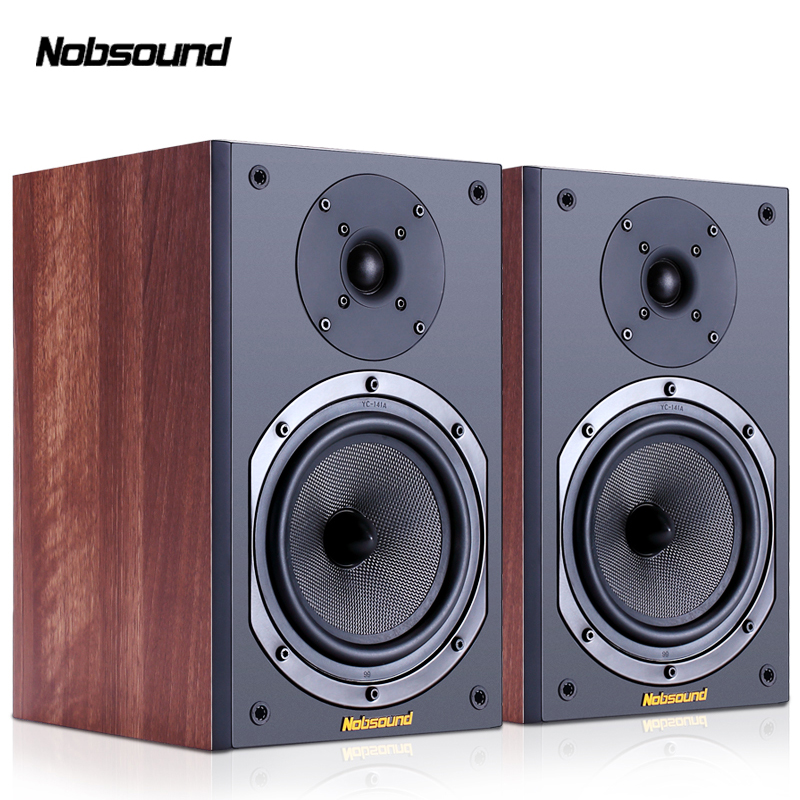 Nobsound NS 602 Wood 100W 1 Pair 6 5 inches Bookshelf Speakers 2 0 HiFi Column