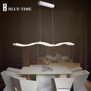 Image 5 - מודרני Led תליון אור חדר אוכל סלון מטבח l97CM 38w אקריליק Ceilling רכוב Led תליון מנורת תלייה מנורות