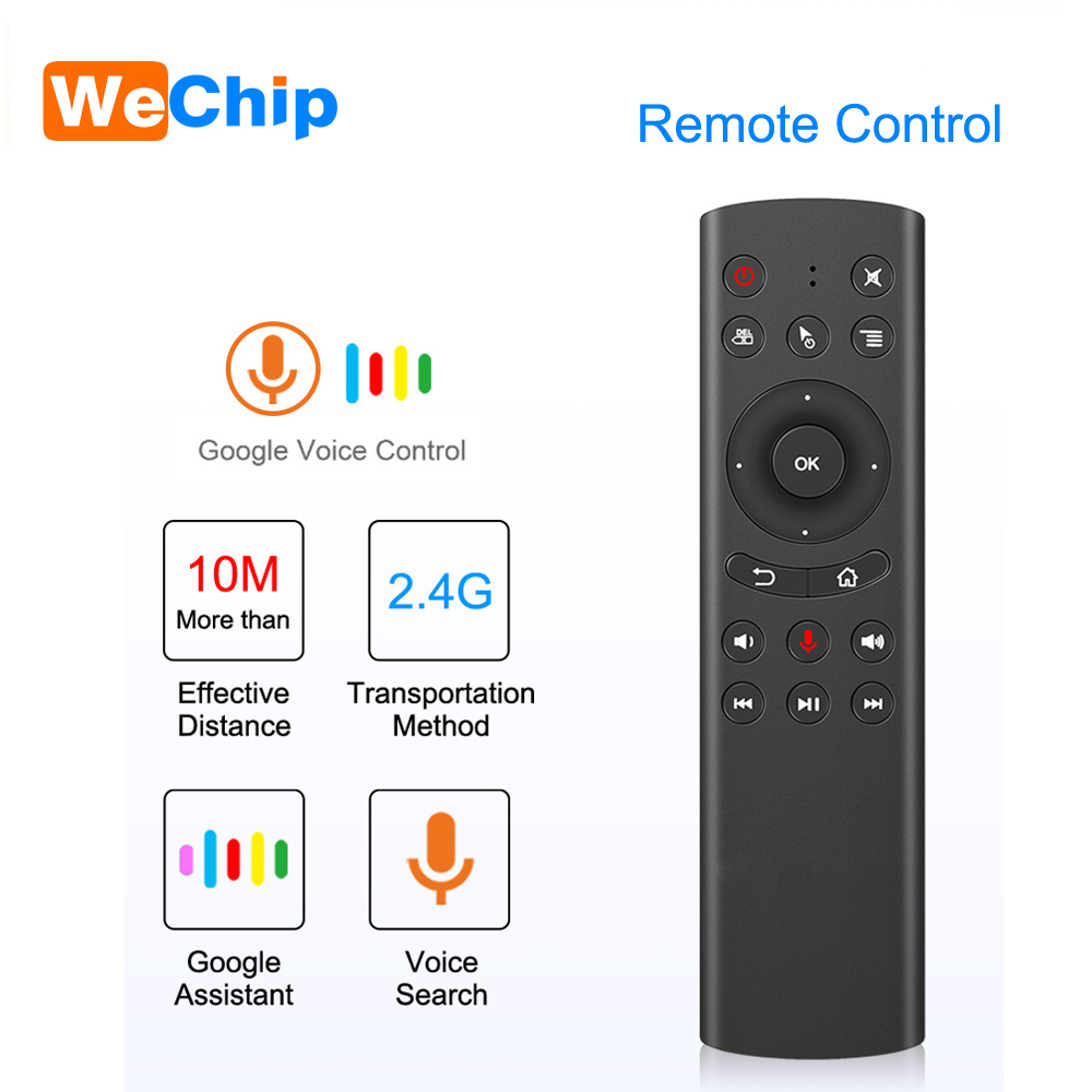Wechip G20 Gryo Voice Wireless Air Mouse Remote 2.4G Keyboard Control Universal Mini Keyboard Controller For PC Android TV Box
