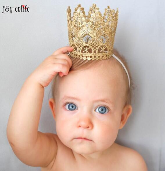 1pcs Headband Princess Elastic Lace Flower handmade Hairband Hair Band Baby Shower boy girl 1st birthday party decoration