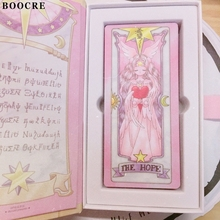 Cardcaptor Sakura Pink Red Color 52 Piece Clow Cards+Book SET+The Nothing Card Tarot Cards Accessories Props