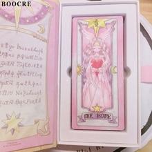 Cardcaptor Sakura Pink Red Color 52 Piece Clow Cards+Book SET+The Nothing Card Cardcaptor Sakura Tarot Cards Accessories Props