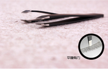 Stainless steel eyebrow folder beveled Xiumei Dao eyebrow folder eyebrow plucking clip forceps health and safety