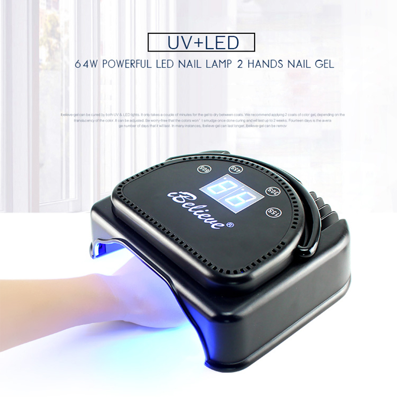 Dry&Rechargeable 64W Nail Lamp UV LED Lamp Nail Dryer for UV Gel LED ...