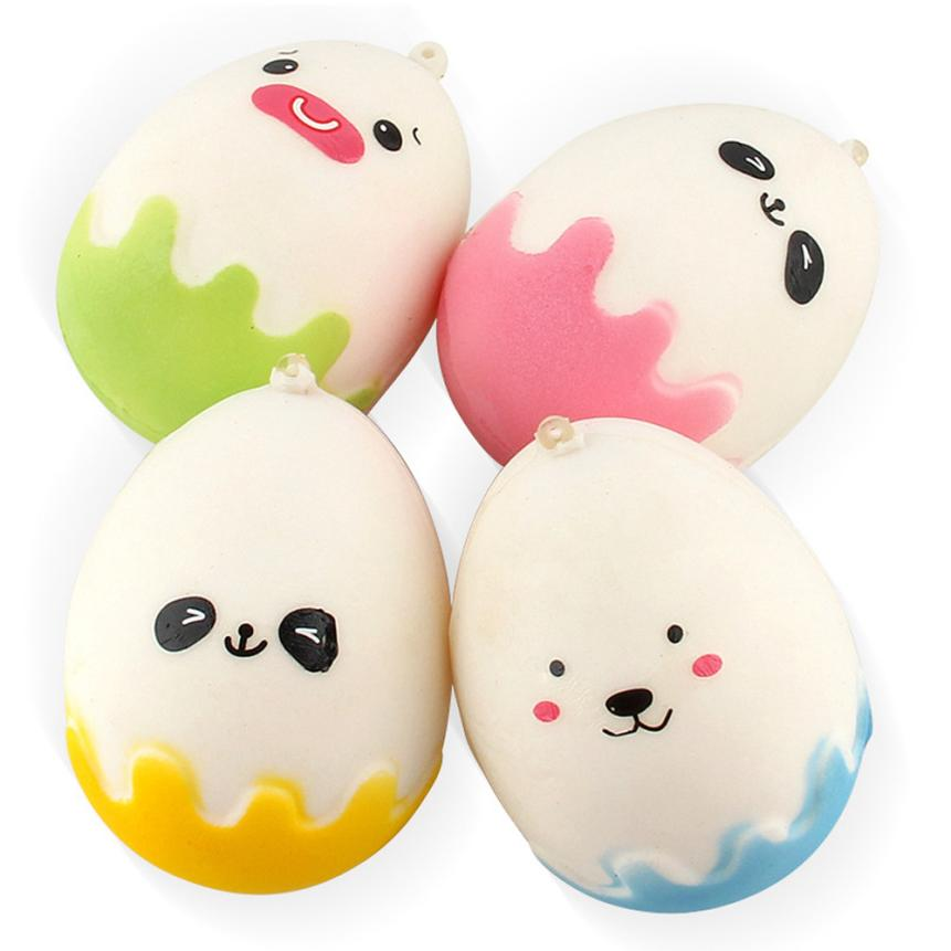 1PC Random Egg Expression Slow Rising Collection Squeeze Stress Reliever Toy Decompression Toys funny prank squishy #20