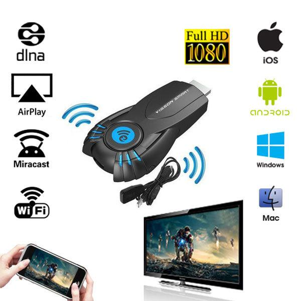 Qualität TV Stick Smart TV HD Dongle Wireless Receiver DLNA Airplay Miracast oneanycasting PK Chrome 2 für telefon TV