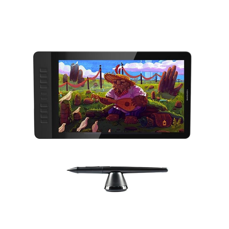 GAOMON PD1560 HD 1920x1080 IPS Grafica Disegno Digitale Monitor Pen Display Monitor con 10 tasti di Scelta Rapida e Regolabile Stand