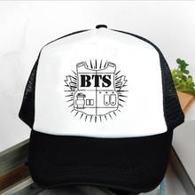 2016 Special Offer Rushed Bangtan Cadete Cap font b Hats b font Bts Logo Baseball font