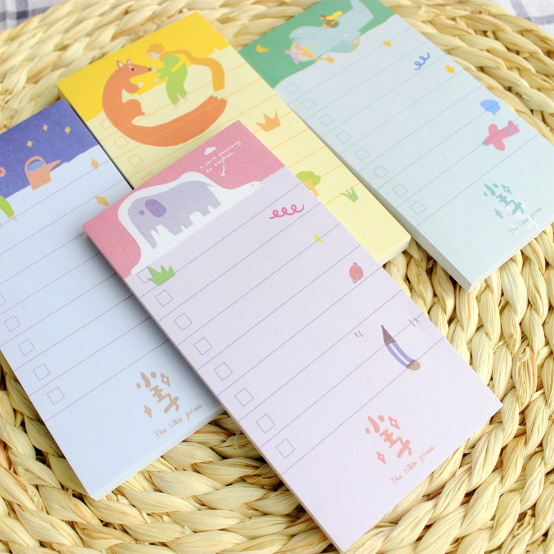 8 pcs/Lot Le Petit Prince Sticky Notes Cartoon Plan Memo Pad Post it Paper Sticker Stationery Office Accessories