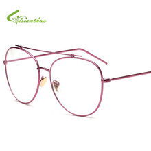 2017 Vintage Round Glasses Men Women Metal Frame With Clear Lens Transparent Harry Potter Eyewear Retro Female Optics Eyeglasses(China (Mainland))