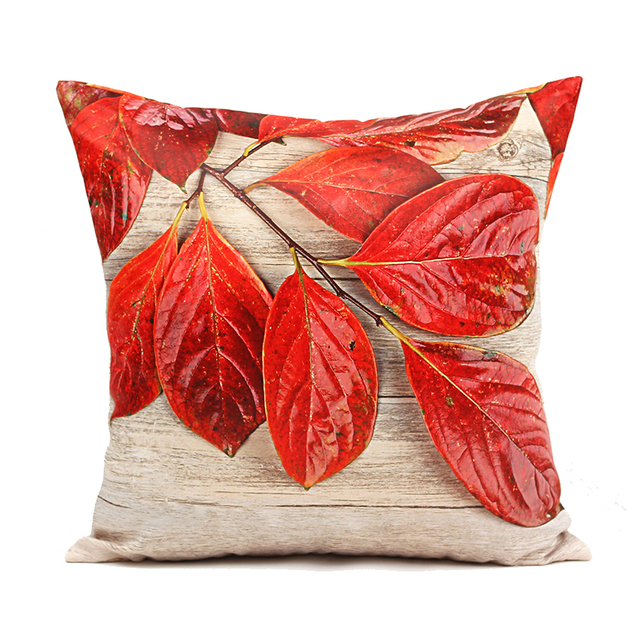 cc769a1051a44d High Quality 3D Cushion Cover Decorative Pillow Covers Two Side Printing  45*45cm Wood Leaves Decorative Cushion Covers For Sofa
