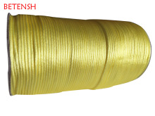 3mm Lemon Yellow Macrame Rattail Jewelry Accessories Making Beading Shamballa Bracelet Nylon Cord Chinese Knot Rope 250m/roll